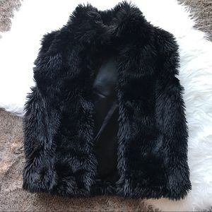 Bardelli Beverly Hills Black Faux fur vest Small